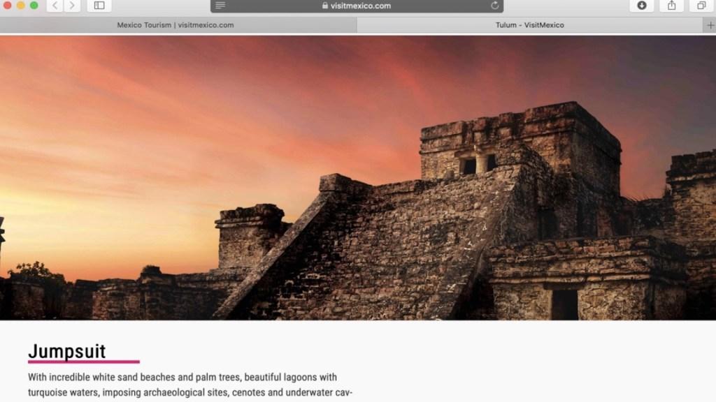 VisitMexico promociona sitios turísticos con polémica traducción; Sectur ofrece disculpas y denuncia afectaciones - Captura de pantalla