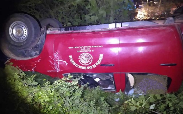 Muere en volcadura alcalde de San Simón Zahuatlán, Oaxaca - Foto de Quadratín