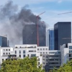 Controlan incendio en torre del World Trade Center de Bruselas, Bélgica
