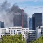 Controlan incendio en torre del World Trade Center de Bruselas, Bélgica