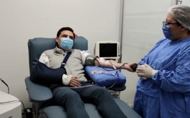 #Video Zoé Robledo dona plasma convaleciente tras superar COVID-19 - Zoé Robledo dona plasma convaleciente para pacientes con COVID-19. Captura de pantalla