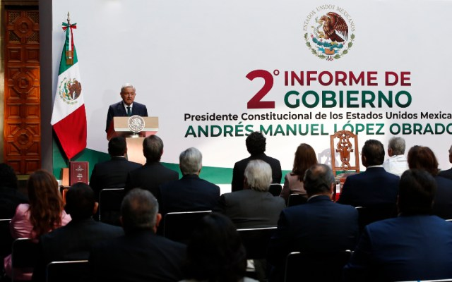 Discurso del presidente López Obrador con motivo de su Segundo Informe de Gobierno - Foto de EFE