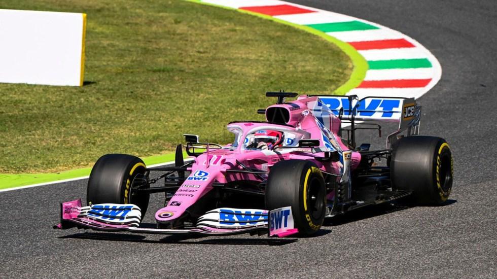 Gana Hamilton el GP de la Toscana; 'Checo' Pérez finaliza quinto - 'Checo' Pérez en pruebas del GP de la Toscana. Foto de @SChecoPerez