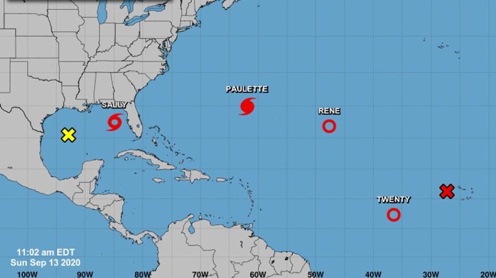 Se forma la depresión tropical Veinte en el Atlántico; podría fortalecerse a huracán - Ciclones en el Océano Atlántico. Foto de NHC