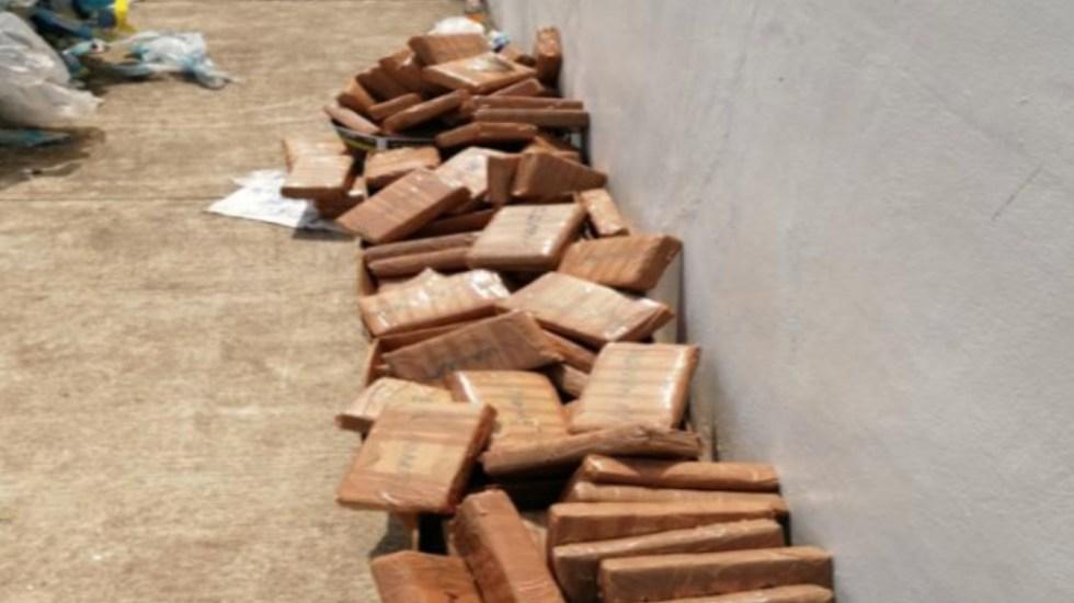 Aduanas decomisa 627 kilos de cocaína en pacas de plástico reciclado en Chiapas - Foto de SAT