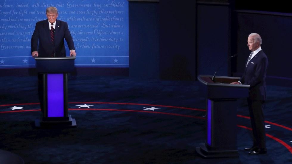 Primer encuentro caótico entre Trump y Biden obliga a cambiar formato de debates presidenciales - Debate Presidencial Estados Unidos 2