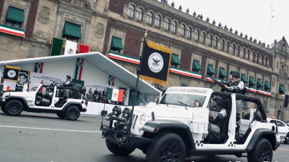 Sin público y con medidas sanitarias, así se llevó a cabo el desfile militar por la Independencia de México - Foto de Guardia Nacional