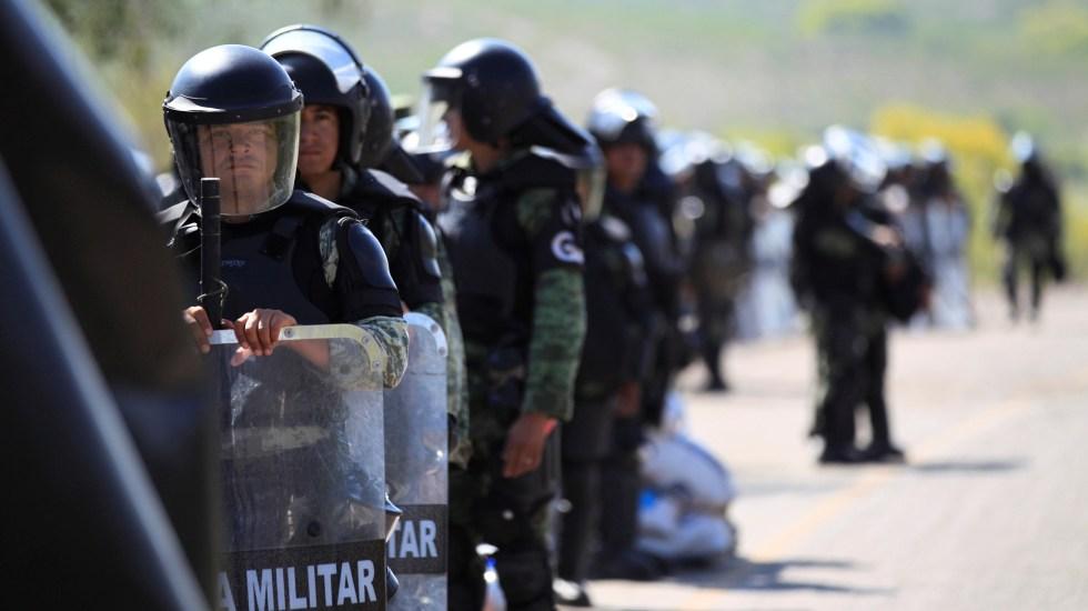 Aprobar reforma a Ley de Seguridad Nacional beneficia a organizaciones criminales, asegura fiscal General de EE.UU. - Elementos de la Guardia Nacional en Chihuahua. Foto de EFE