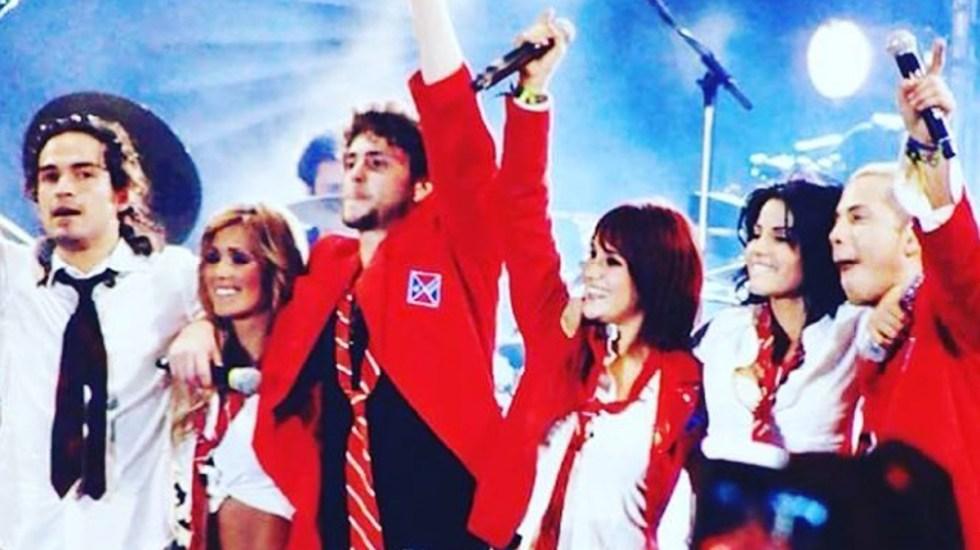 """""""Lo estamos aterrizando"""", dice Anahí al revelar reencuentro de RBD - RBD durante concierto. Foto de @anahi"""