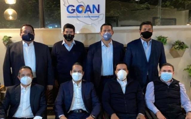 Gobernadores panistas hacen llamado para evitar la eliminación de fideicomisos - Foto de Twitter Goan