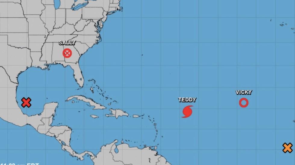 Teddy se intensifica a huracán categoría 3; prevén fuerte oleaje en el Atlántico - Foto de NHC