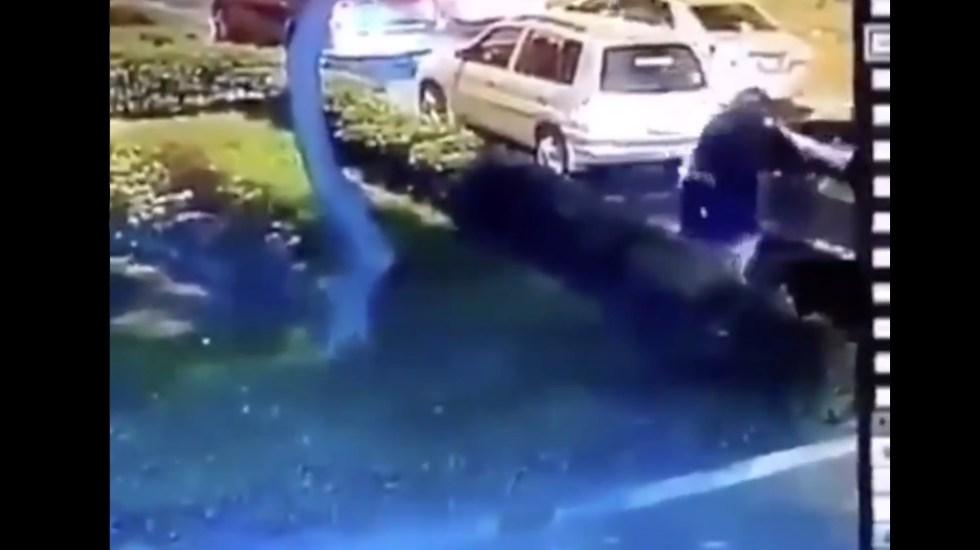 #Video Sujeto intenta asaltar a automovilista en el tráfico, termina abatido - Intento asalto tráfico robo asaltante