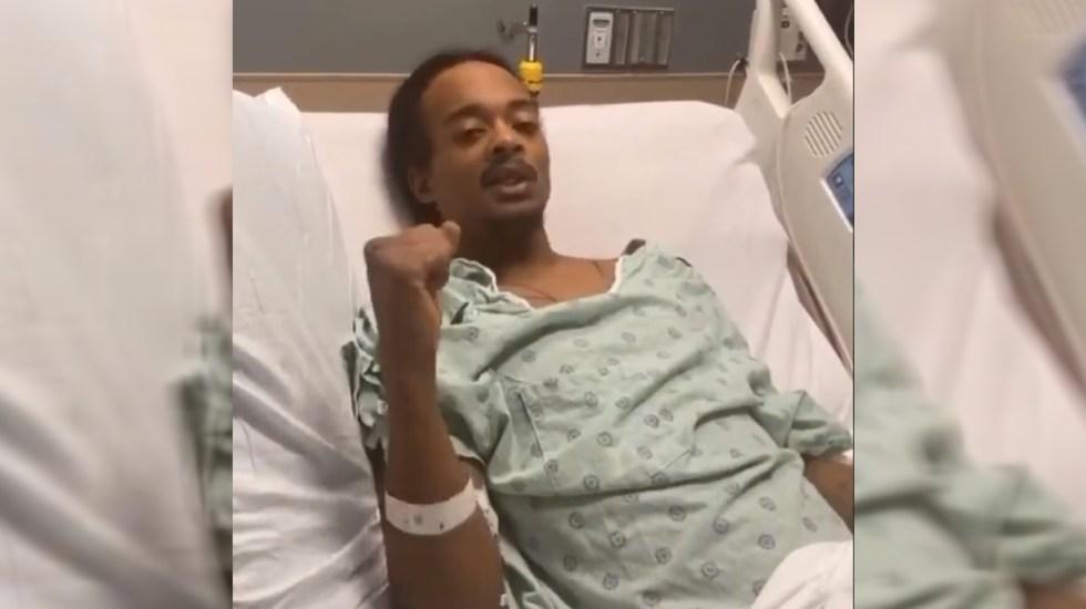 """#Video """"Duele al respirar, duele al dormir"""", narra afroamericano baleado por policía en Kenosha - Jacob Blake desde el hospital. Captura de pantalla / @AttorneyCrump"""