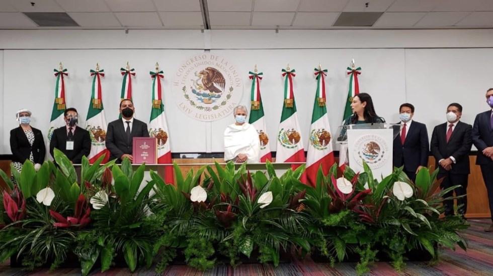 Entrega del Informe de Gobierno muestra colaboración entre poderes, señaló Laura Rojas - Foto de Twitter Olga Sánchez Cordero