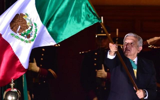 En un Zócalo vacío por la pandemia, AMLO recuerda en Grito de Independencia a pueblos indígenas, fraternidad y la esperanza - López Obrador da Grito de Independencia. Foto de Gobierno de México