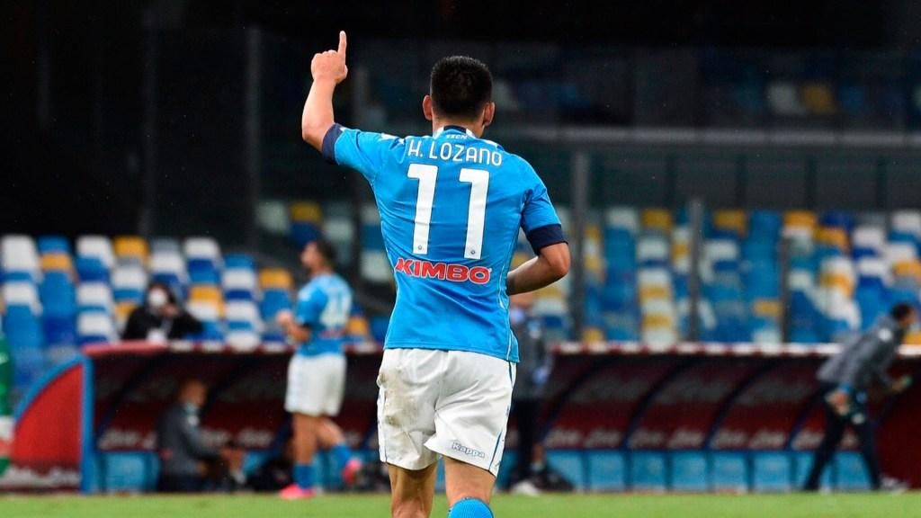 """Gattuso elogia a Lozano: """"No le estoy regalando nada, es un jugador distinto"""" - Hirving Lozano marcó doblete ante el Génova. Foto @sscnapoli"""