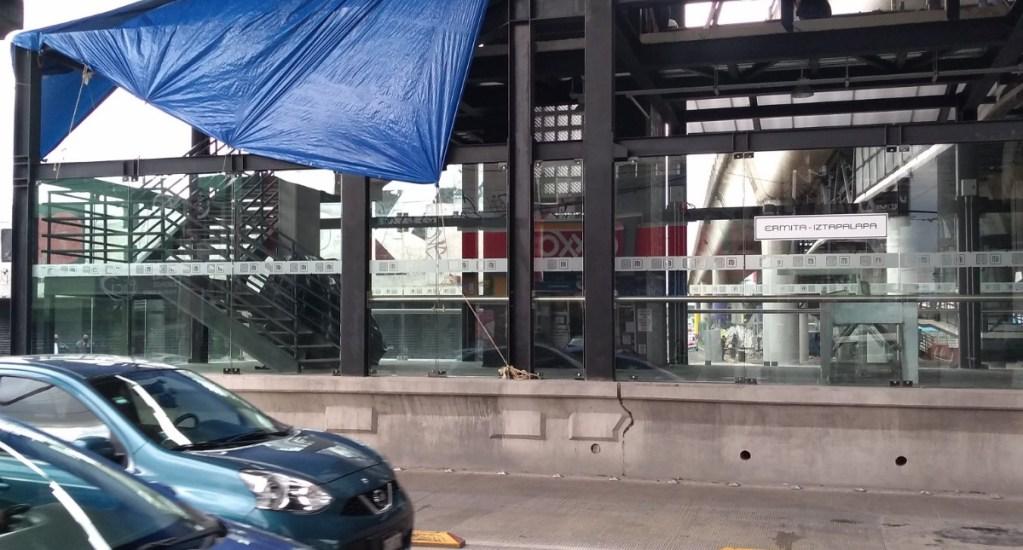 Cerrada la estación Ermita del Metrobús por lluvias atípicas - Metrobús Ermita Iztapalapa Ciuda de México