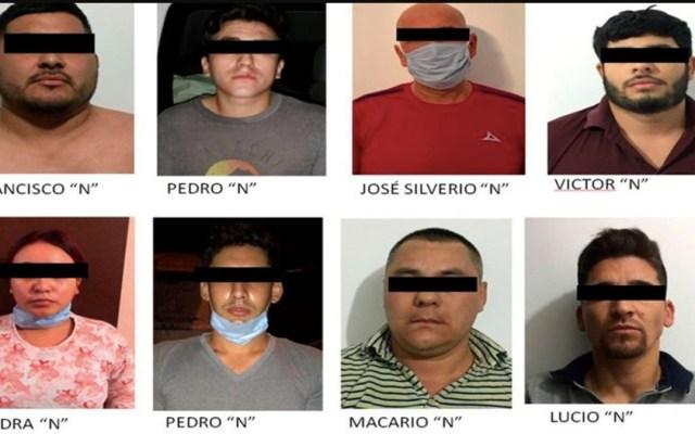 Detienen en Sonora a líder de 'Los Siete Demonios', brazo armado del Cártel del Pacífico - Presuntos miembros de Los Siete Demonios. Foto de FGR