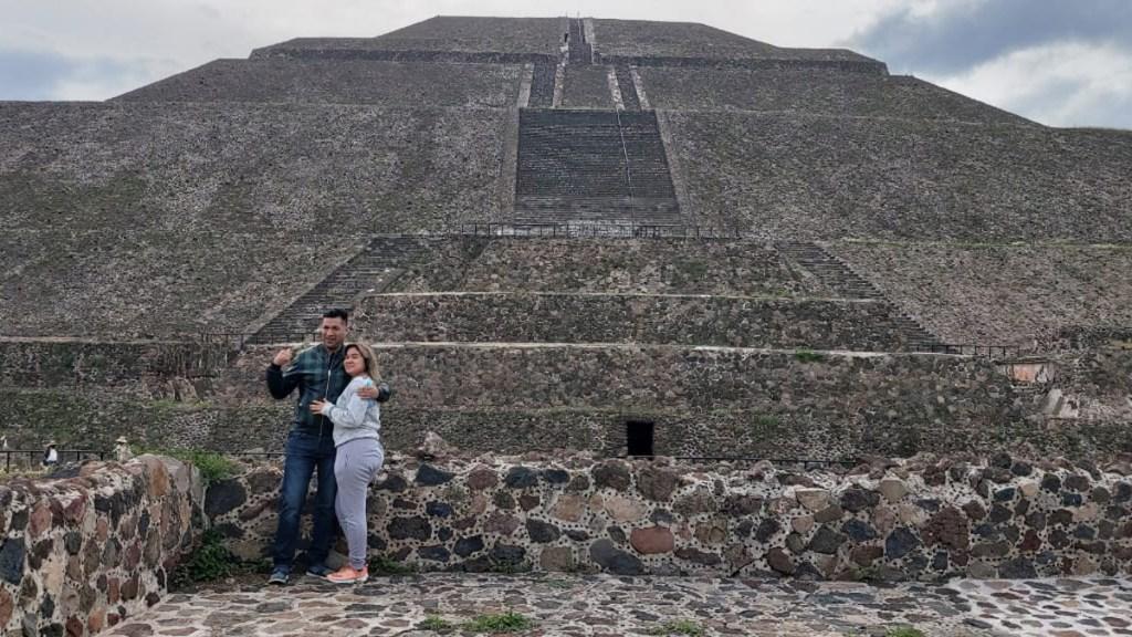 Reabre Zona Arqueológica de Teotihuacan tras cinco meses cerrada - Visitantes a la Zona Arqueológica de Teotihuacan. Foto de @EdomexTurismo