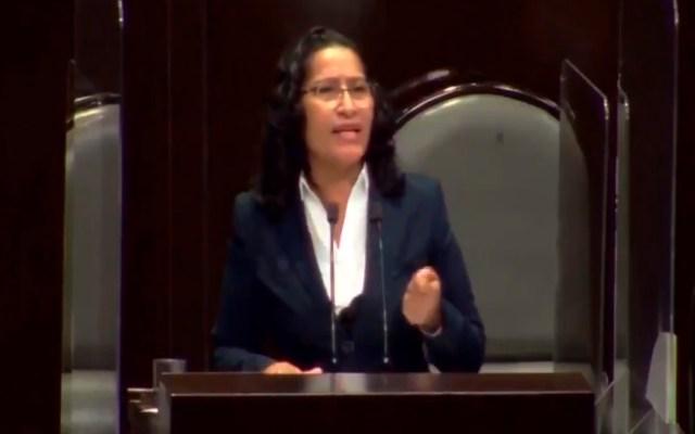 #Video Diputada por Morena admite en el Pleno de San Lázaro soborno de 20 mil pesos a juez; Comité de Ética ya investiga el caso - Foto Captura de pantalla