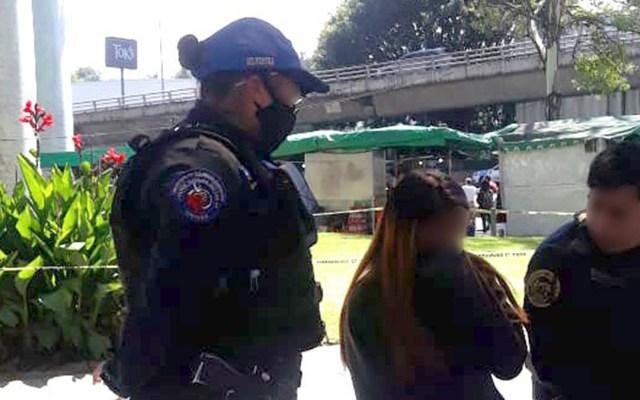 Impiden policías capitalinos suicidio de adolescente de 14 años - Adolescente que intentó suicidarse en la alcaldía Álvaro Obregón. Foto de @SSC_CDMX