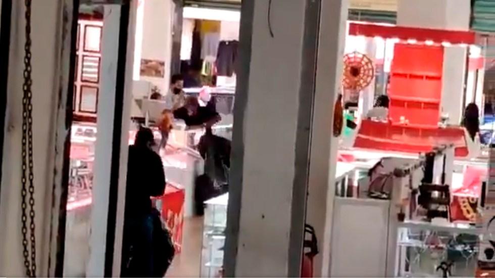 #Video Intento de robo en joyería de Cuautla, Morelos, desata balacera - Foto Captura de pantalla