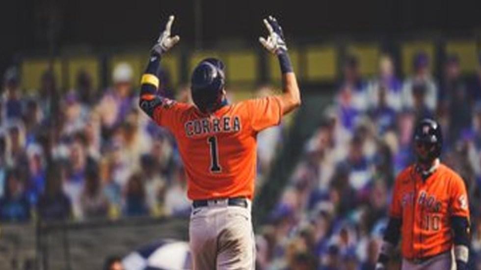 Astros de Houston derrotan 10-5 a Athletics de Oakland; Carlos Correa pegó dos jonrones e impulsó cuatro carreras - Los 'Astros' de Houston se ponene arriba ante los 'Atléticos' de Oakland en el inicio de la Serie Divisional de la Liga Americana. Foto Twitter @LosAstros