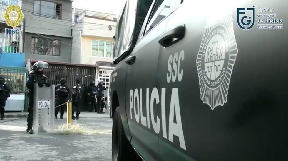 Cateos a inmuebles de Azcapotzalco dejan saldo de cinco detenidos - Foto de captura de pantalla