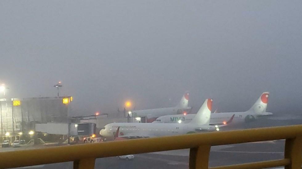AICM reanuda operaciones tras suspensión de actividades por banco de niebla - Foto de @luismiguelbaraa