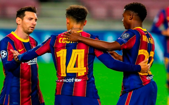 Barcelona golea 5-1 al Ferencvaros en fase de grupos de la Champions - Foto Twitter @FCBarcelona_es