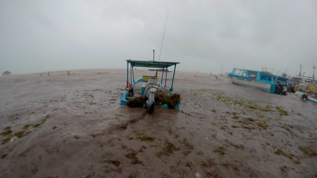 Tormenta tropical Gamma mantendrá lluvias extraordinarias en Quintana Roo y Yucatán - Foto de EFE