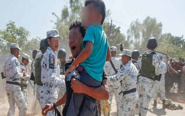 Acusa CNDH agresiones de Guardia Nacional e INM contra migrantes en Chiapas - Foto Twitter @CNDH