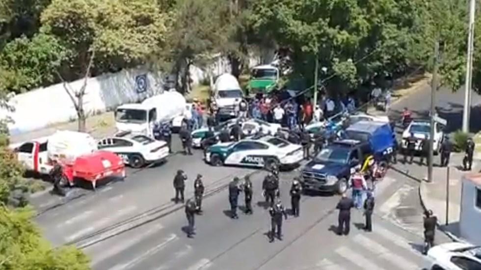 Pelean gaseros en Lomas de Chapultepec; riña deja 6 heridos - Conflicto de gaseros. Captura de pantalla