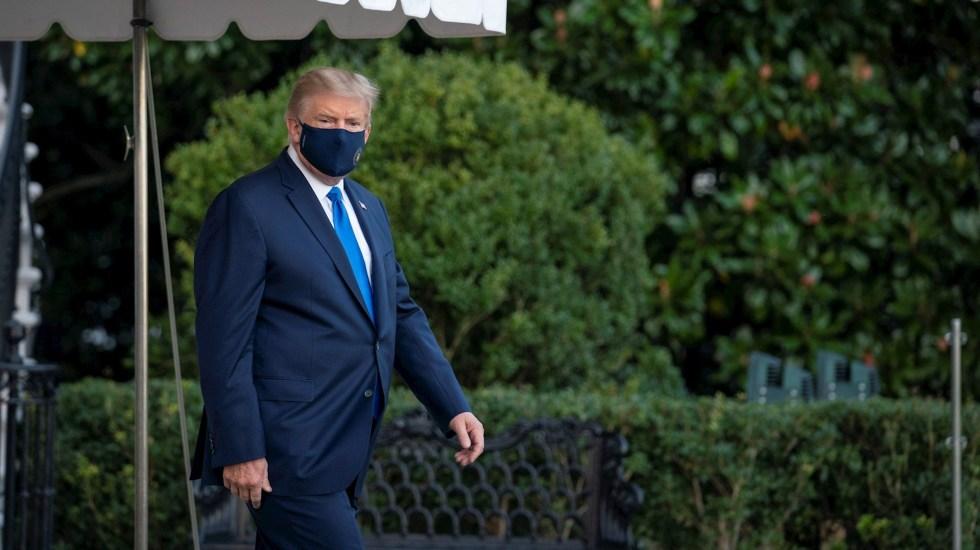 Signos vitales de Donald Trump eran preocupantes antes de ingresar al hospital, revela AP - Foto de EFE/ EPA/ Sarah Silbiger / POOL.