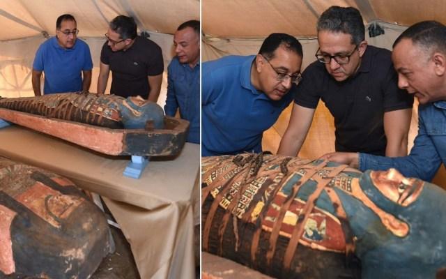 Egipto anuncia hallazgo de sarcófagos con más de 2 mil 500 años de antigüedad - Egipto sarcófagos El Cairo Egipto 191020201