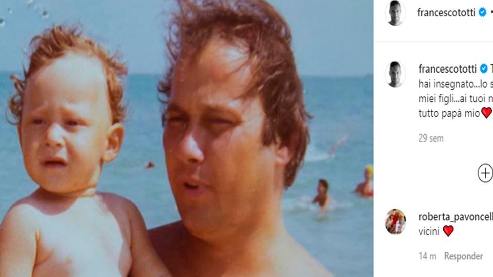 Murió por COVID-19 padre de Francesco Totti - El padre de Francesco Totti, Enzo Totti falleció por coronavirus. Foto Captura de imagen