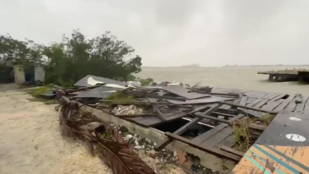Delta ingresa a Yucatán como Huracán Categoría 2; ojo del huracán saldrá de tierra cerca del mediodía - Captura de pantalla