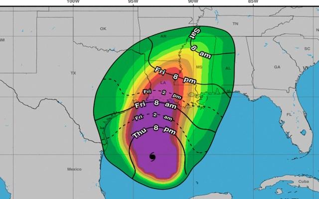 'Delta' se fortalece y alcanza Categoría 3; lleva vientos sostenidos de 185 km/h - El huracán 'Delta' se desplaza a Luisiana, Estados Unidos. Foto Twitter @NHC_Atlantic