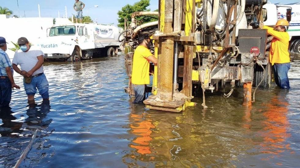 Comunidades de Mérida continúan bajo el agua tras paso del huracán Delta - Foto de Gobierno de Mérida