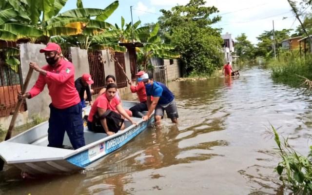 Ocasionará 'Gamma' lluvias intensas en Yucatán, Campeche y Tabasco - Inundaciones en Tabasco por lluvias. Foto de @ProcivilTabasco