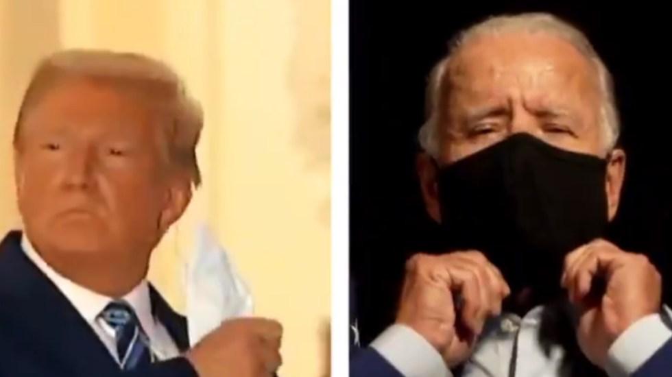Joe Biden arremete contra Trump por quitarse cubrebocas en la Casa Blanca - Joe Biden Donald Trump cubrebocas