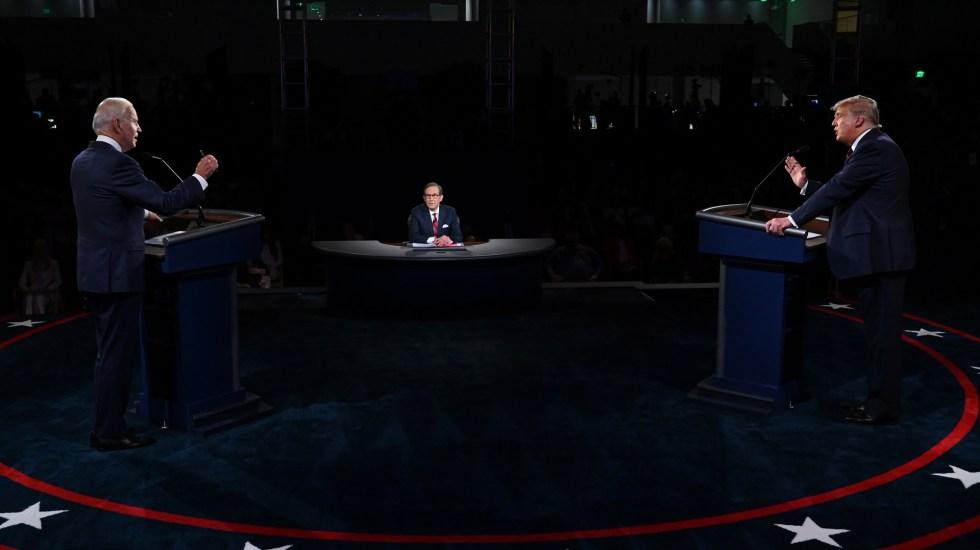 Retira campaña de Joe Biden anuncios contra Trump tras su positivo por COVID-19 - Joe Biden y Donald Trump en primer debate presidencial. Foto de EFE