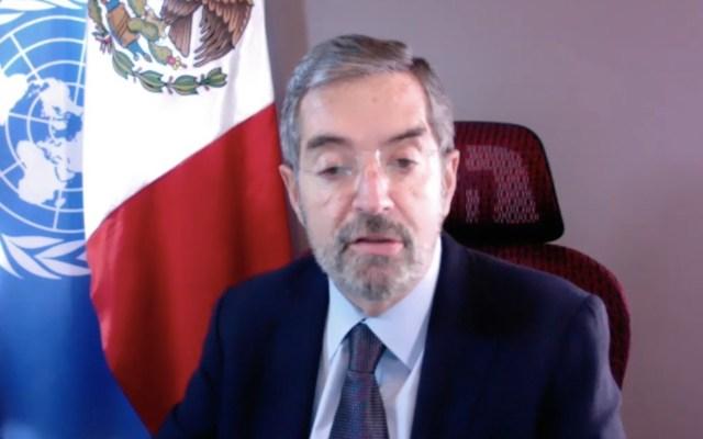 Reitera Juan Ramón de la Fuente compromiso de México con la Agenda 2030 para recuperación por pandemia de COVID-19 - Captura de pantalla