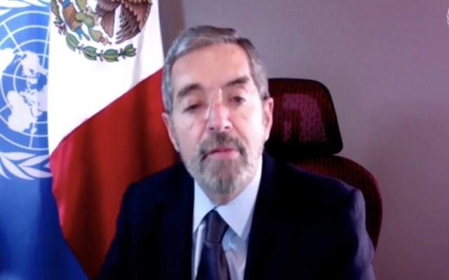 Embajador Juan Ramón de la Fuente reitera, ante la ONU, compromiso de México con los derechos humanos - Captura de pantalla