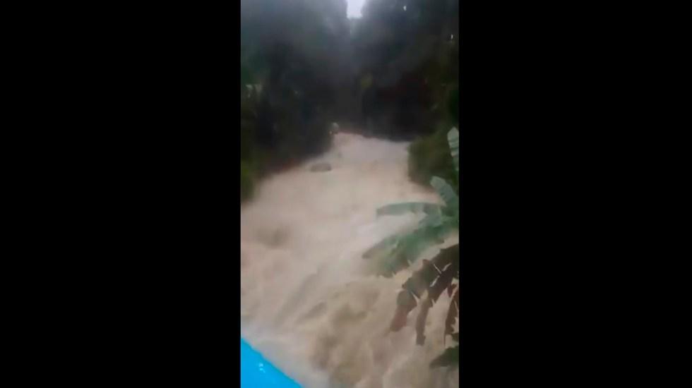 Advierten por fuerte caudal de agua que llegará a Tabasco en próximas horas - Presa Peñitas, tabasco. Foto Captura de pantalla
