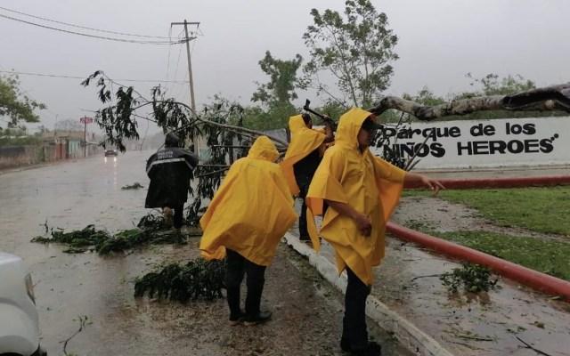 Saldo blanco por 'Delta' en Quintana Roo; continúan lluvias torrenciales en la Península de Yucatán - Foto de Twitter @MauVila