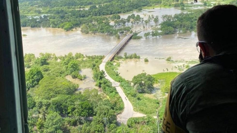 Gamma avanza al norte de la Península de Yucatán; su paso en México ha dejado al menos seis muertos - Foto de CNPC