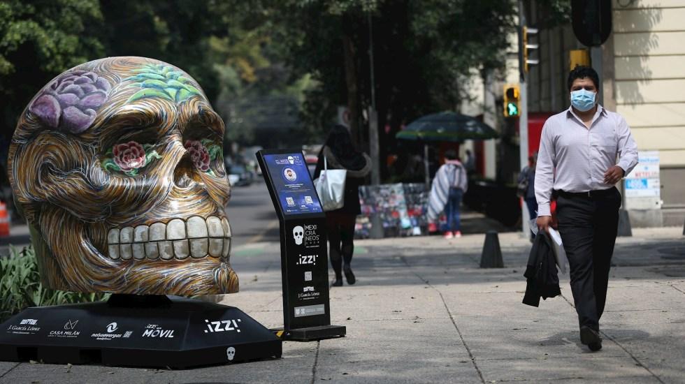 Por pandemia, reitirarán 'Mexicráneos' de Paseo de la Reforma - Foto de EFE/Sáshenka Gutiérrez.