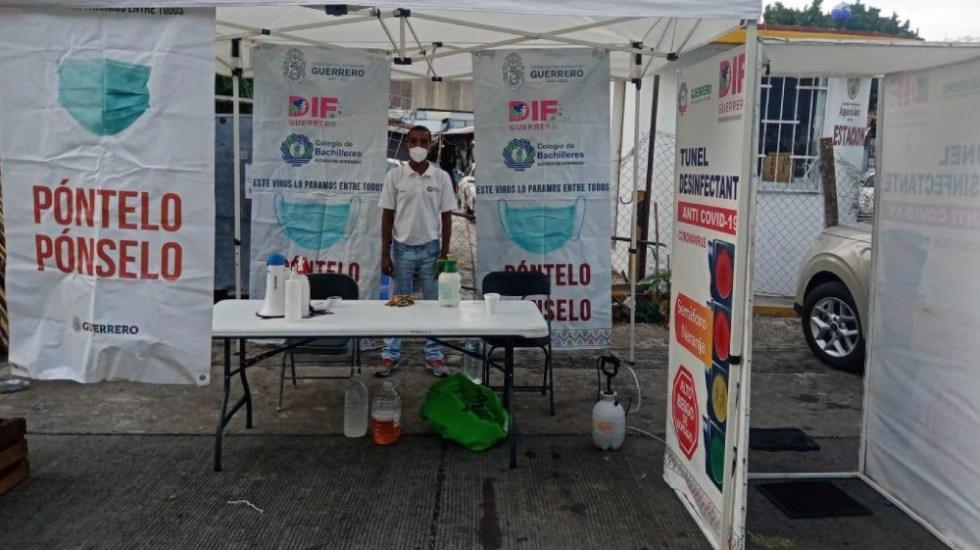 Debido a alta afluencia de visitantes, en Acapulco continúan trabajando módulos sanitarios - Foto de @HectorAstudillo
