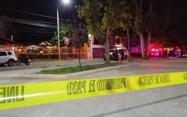 México evita récord de violencia en 2020 con caída marginal de homicidios - Movilización en Santa Madre Curandería por asesinato de policías. Foto de @JOSEANGELMART18